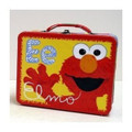 Elmo Square Carry All Lunchbox Tin Box - Red