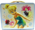 Tinkerbell Square Carry All Tin Stationery Lunchbox Lunch Box - Blue