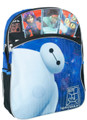 "Big Hero 6 Blue & Black Large Backpack ""Baymax"""