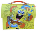 Spongebob Squarepants Dome Tin School Lunchbox Lunch Box - Yellow