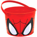 Spiderman Plastic Favor Bucket Container ( 1pc ) - Face