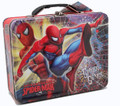 Spiderman Square Carry All Tin Stationery Lunchbox Lunch Box - Red