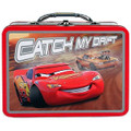 Cars Square Tin Stationery Small Carry-All Lunchbox Lunch Box