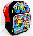 "Despicable Me Minions Large Cloth Backpack -""Danger at Work"""