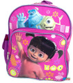 """Monsters University Boo Mike Sully Small Toddler 12"""" Cloth Backpack Bag"""