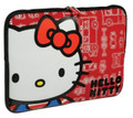"Hello Kitty 16"" Weather Resistant Laptop Sleeve Cover Case - Red"