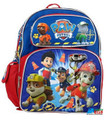 """Paw Patrol Small Toddler 12"""" Cloth Backpack - Blue"""