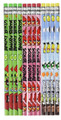 Angry Birds Green/Pink/Light-blue Wooden Pencils Pack of 12