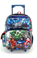 """Avengers Assemble Large 16"""" Cloth Backpack With Wheels - Blue/Gray"""