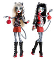 Monster High Pack of 2 Plastic Dolls and Accessories - Meowlody and Purrsephone