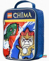 LEGO Chima Double Zipper Cloth Insulated Fabric Lunch Box Container - 3D Blue