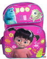 """Monsters University Mike Boo Sully Large 16"""" Cloth Backpack Book Bag Pack - Pink"""