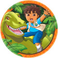 Diego Large  9 Inch Round Lunch Plates - Rescue Birthday Party