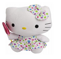 Hello Kitty Ty Original Buddy 11 Inch Medium Plush Toy - Lollipop