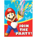 Super Mario Bros Pack of 8 Invitations  - Mario Party