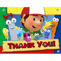 Handy Manny Pack of 8 Thank You Notes