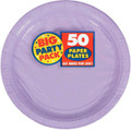 Big Party Pack Large 9 Inch Paper Plates - Lavender