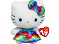 "Hello Kitty Small TY Beanie Baby 6.5"" Plush Toy - Tie Dye Dress"