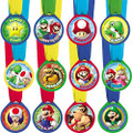 Super Mario Brothers Mini Award Medal Favors (12 Piece)