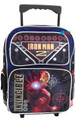 "Iron Man 2 Large 16"" Cloth Backpack Book Bag Pack With Wheels - Black"