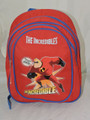 """The Incredibles Small Toddler 12"""" Cloth Backpack Book Bag Pack - Red"""