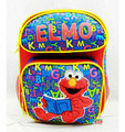 "Elmo Small Toddler 12"" Cloth Backpack Book Bag Pack - Reading"