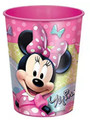 Minnie Mouse Pink Plastic 16 oz Reusable Keepsake Souvenir (Ribbons) Cup (1 Cup)