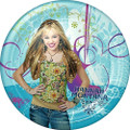 Hannah Montana Large Round Lunch Dinner Plates