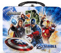 Avengers Assemble Square Carry All Tin School Lunch Box - Black Handle