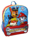 "Paw Patrol Large 14"" Cloth Backpack Book Bag Pack - ""Just Yelp for Help"""