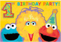 Sesame Street Pack of 8 Invitations  - 1st Birthday