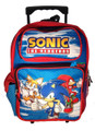 Sonic The Hedgehog Large 16 Inch Rolling Backpack - Tails Knuckles