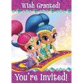 Shimmer And Shine Pack of 8 Invitations