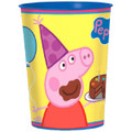 12X Peppa Pig Plastic 16 Ounce Reusable Keepsake Favor Cup ( 12 Cups )