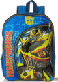 "Transformers Large 16"" Cloth Backpack Book Bag - Blue/Bumblebee"