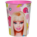 12X Barbie Plastic 16 Ounce Reusable Keepsake Favor Cup ( 12 Cups )