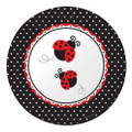 Ladybug Large Round 9 Inch Lunch Dinner Plates