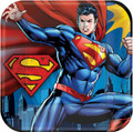 Superman Large 9 Inch Lunch Dinner Plates