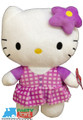 "Hello Kitty Small 7"" Plush Toy - Purple Square"