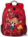 "Jake and the Neverland Pirates Large 14"" Backpack Book Bag Pack - Red"
