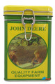 John Deere Square Tin Cookie Jar - Round Picture