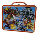 Skylanders Square Carry All Tin Stationery Lunch Box Lunchbox - Orange