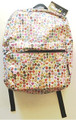 "Emoji Decoration White 16"" Inch Large Backpack"