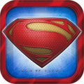 Superman Large 9 Inch Square Lunch Dinner Plates