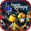 Transformers Prime Bumblebee Large 9 Inch Square Lunch Dinner Plates