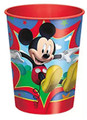 12X Mickey Mouse Plastic 16 Ounce Reusable Keepsake Favor Cup ( 12 Cups )