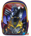 "Transformers  Large 16"" Cloth Backpack Book Bag Pack - 3D Yellow Outline"