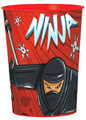 12X Ninja Plastic 16 Ounce Reusable Keepsake Favor Cup ( 12 Cups )