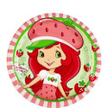 "Strawberry Shortcake Small Round 7"" Cake Dessert Plates"