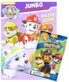 Paw Patrol Jumbo Coloring and Activity Book w/ Grab N Go Play Pack- On The Scene